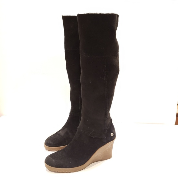 99002a868e4 UGG Sandra Boot sn 5449 black wedge boot